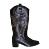 COWBOY-100 Black Faux Leather